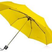 Зонт складной Columbus, механический, 3 сложения, с чехлом, желтый, арт. 016468103