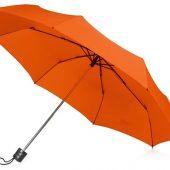 Зонт складной Columbus, механический, 3 сложения, с чехлом, оранжевый, арт. 016468003