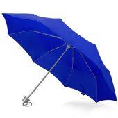 Зонт складной Tempe, механический, 3 сложения, с чехлом, синий, арт. 016359303