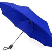 Зонт складной Irvine, полуавтоматический, 3 сложения, с чехлом, темно-синий, арт. 016421603