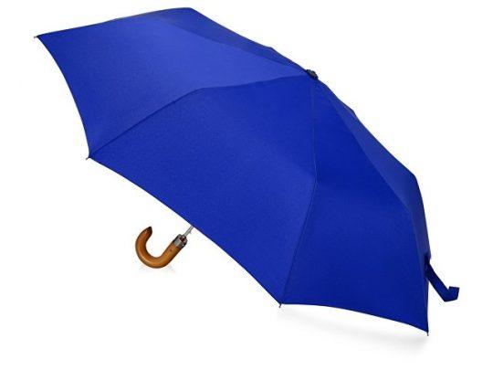 Зонт складной Cary , полуавтоматический, 3 сложения, с чехлом, темно-синий, арт. 016362903
