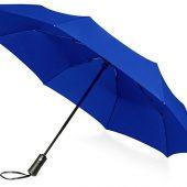 Зонт складной Ontario, автоматический, 3 сложения, с чехлом, темно-синий, арт. 016363203