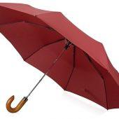 Зонт складной Cary , полуавтоматический, 3 сложения, с чехлом, бордовый, арт. 016362803