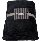 Негабаритный ультра-плюшевый плед Mollis, черный, арт. 016680603