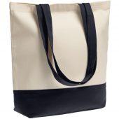 Холщовая сумка Shopaholic, темно-синяя
