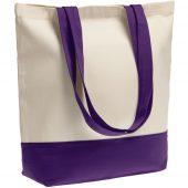 Холщовая сумка Shopaholic, фиолетовая