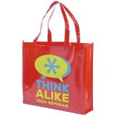 Блестящая ламинированная нетканая сумка-тоут для покупок, арт. 016855603