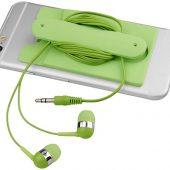 Проводные наушники и силиконовый бумажник для телефона, арт. 016811403