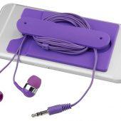 Проводные наушники и силиконовый бумажник для телефона, арт. 016811703