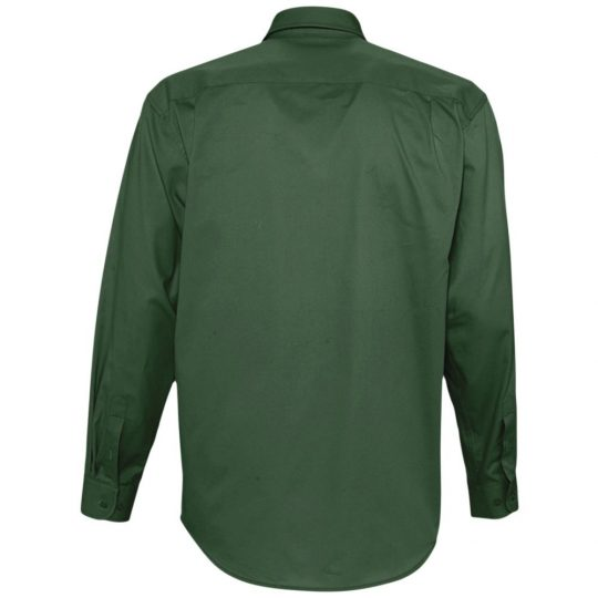 Рубашка мужская с длинным рукавом BEL AIR темно-зеленая, размер XL