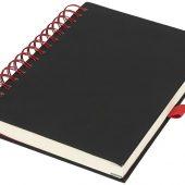 Блокнот Wiro, черный/красный (А5), арт. 016884803