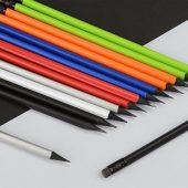 Карандаш чернографитовый трехгранный Blackie 3D, белый, арт. 016693903