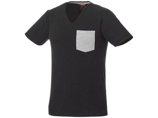 Мужская футболка Gully с коротким рукавом и кармашком, черный/серый (XS), арт. 016759103