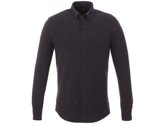 Мужская рубашка Bigelow из пике с длинным рукавом, серый графитовый (2XL), арт. 016790903