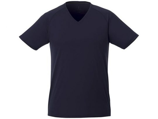 Модная мужская футболка Amery с коротким рукавом и V-образным вырезом, темно-синий (L), арт. 016797803