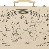 Набор для рисования из 67 предметов в чемодане с рисунком, арт. 016944103