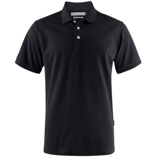 Рубашка поло мужская Sunset черная, размер XXL
