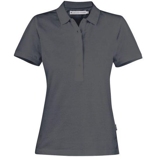 Рубашка поло женская Neptune темно-серая, размер XXL
