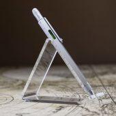 Ручка шариковая Construction, мультиинструмент, серебристая