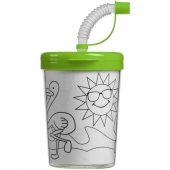 Бутылка-раскраска детская «Передвижник», зеленая