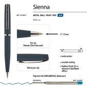 Ручка Sienna шариковая  автоматическая, синий металлический корпус, 1.0 мм, синяя, арт. 017353303