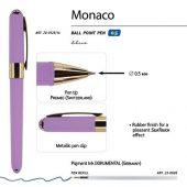Ручка пластиковая шариковая Monaco, 0,5мм, синие чернила, сиреневый, арт. 017430103