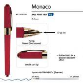 Ручка пластиковая шариковая Monaco, 0,5мм, синие чернила, красный, арт. 017430003