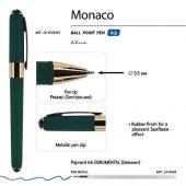 Ручка пластиковая шариковая Monaco, 0,5мм, синие чернила, зеленый, арт. 017429903
