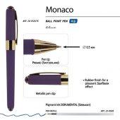 Ручка пластиковая шариковая Monaco, 0,5мм, синие чернила, виноградный, арт. 017428903