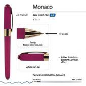 Ручка пластиковая шариковая Monaco, 0,5мм, синие чернила, пурпурный, арт. 017428103
