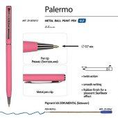 Ручка Palermo шариковая  автоматическая, коралловый металлический корпус, 0,7 мм, синяя, арт. 017357403