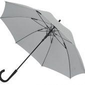 Зонт-трость Bergen, полуавтомат, серый, арт. 017390103