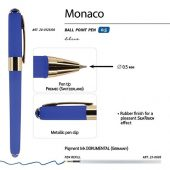 Ручка пластиковая шариковая Monaco, 0,5мм, синие чернила, синий, арт. 017428503