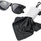 Очищающая салфетка Clear из микрофибры в чехле, черный, арт. 017498803