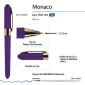 Ручка пластиковая шариковая Monaco, 0,5мм, синие чернила, фиолетовый, арт. 017427903
