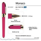 Ручка пластиковая шариковая Monaco, 0,5мм, синие чернила, малиновый, арт. 017429503