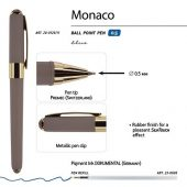 Ручка пластиковая шариковая Monaco, 0,5мм, синие чернила, серый, арт. 017428803