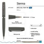 Ручка Sienna шариковая  автоматическая, серый металлический корпус, 1.0 мм, синяя, арт. 017353503