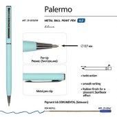 Ручка Palermo шариковая автоматическая, нежно- голубой металлический корпус, 0,7 мм, синяя, арт. 017357003