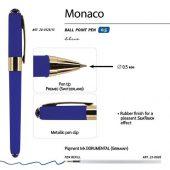 Ручка пластиковая шариковая Monaco, 0,5мм, синие чернила, сине-фиолетовый, арт. 017428303