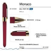 Ручка пластиковая шариковая Monaco, 0,5мм, синие чернила, бордовый, арт. 017429103