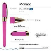 Ручка пластиковая шариковая Monaco, 0,5мм, синие чернила, ярко-розовый, арт. 017428003