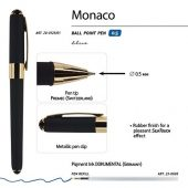Ручка пластиковая шариковая Monaco, 0,5мм, синие чернила, черный, арт. 017428603