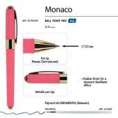 Ручка пластиковая шариковая Monaco, 0,5мм, синие чернила, коралловый, арт. 017429803