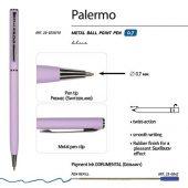 Ручка Palermo шариковая автоматическая, сиреневый металлический корпус, 0,7 мм, синяя, арт. 017357203