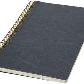 Дневник Spiraly форматаA5 из искусственной кожи, серый (А5), арт. 017507403