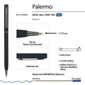 Ручка Palermo шариковая  автоматическая, сине-черный металлический корпус, 0,7 мм, синяя, арт. 017356703