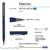 Ручка Palermo шариковая  автоматическая, темно-синий металлический корпус, 0,7 мм, синяя, арт. 017356803