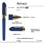 Ручка пластиковая шариковая Monaco, 0,5мм, синие чернила, темно-синий, арт. 017427803