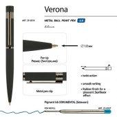 Ручка Verona шариковая  автоматическая, черный металлический корпус 1.0 мм, синяя, арт. 017355903